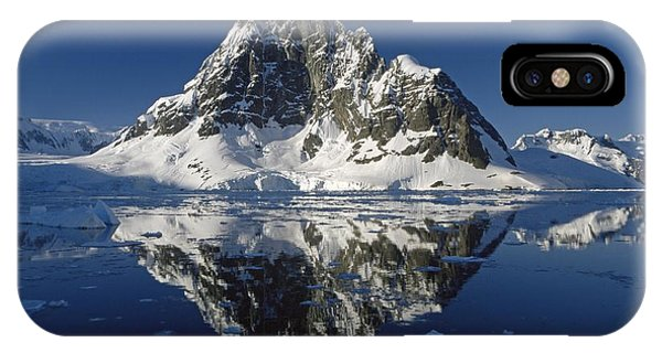 Rocky Mountain iPhone Case - Reflections With Ice by Antarctica