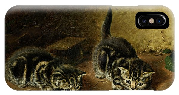 Tabby iPhone Case - Reluctant Playmate by Horatio Henry Couldery