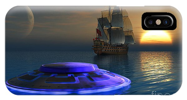 Schooner iPhone Case - Reports Of Strange Glowing Objects by Mark Stevenson