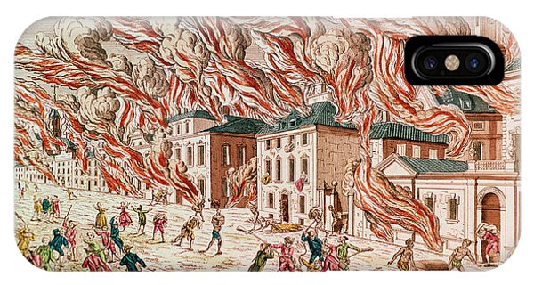 Representation iPhone Case - Representation Of The Terrible Fire Of New York by French School
