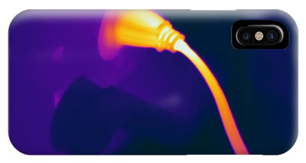 Infrared Radiation iPhone Case - Resistive Heating Of A Wire by Ted Kinsman