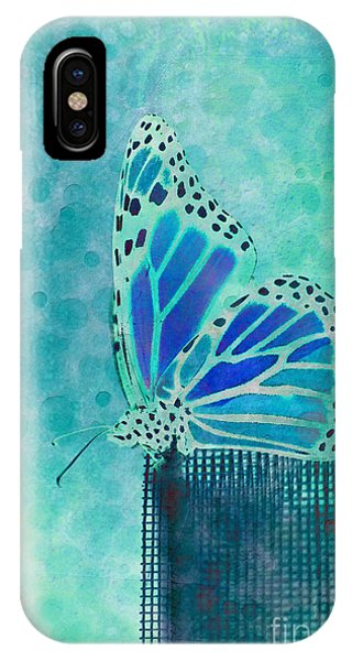 Aqua iPhone Case - Reve De Papillon - S02a2 by Variance Collections