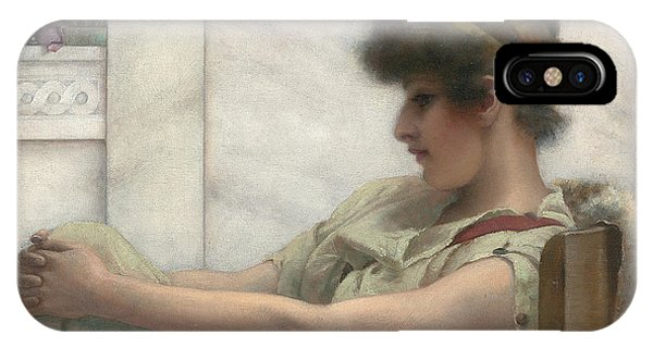 Deep Thought iPhone Case - Reverie by John William Godward