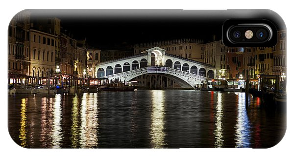 Rialto Bridge At Night IPhone Case