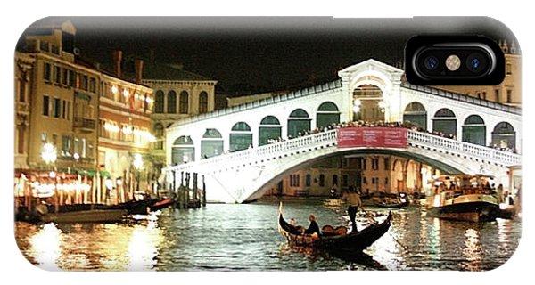 Rialto Bridge Night Scene IPhone Case