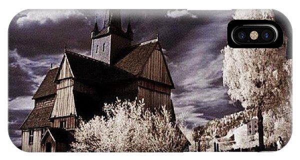 Surrealism iPhone Case - Ringebu, Norway. Stave Church. Taken by Magda Nowacka