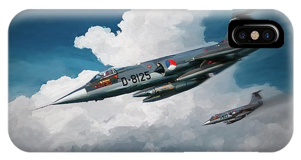 Rnlaf Lockheed F104 Starfighters On Training IPhone Case