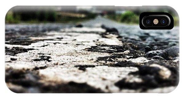 Cloud iPhone Case - #road #closeup #tarmac #street by Ritchie Garrod