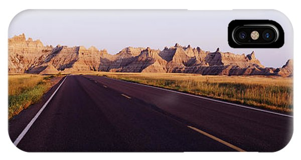 North Dakota Badlands iPhone Case - Road In Badlands National Park by Jeremy Woodhouse