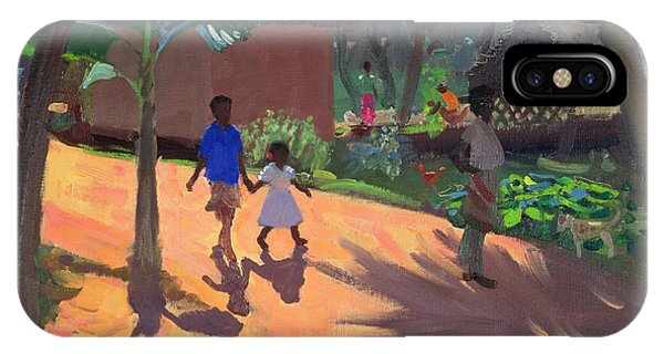 Indian Village iPhone Case - Road To Kovalum Beach by Andrew Macara
