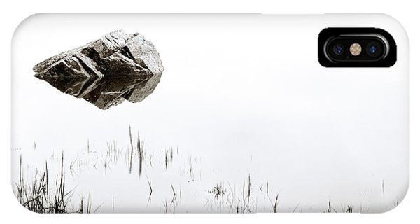 Pond iPhone Case - Rock In The Water by Steve Gadomski
