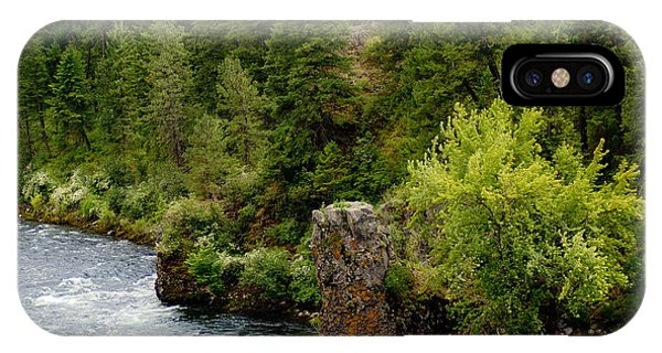 Rockin The Spokane River IPhone Case