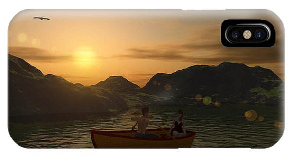 Romance On The Lake IPhone Case