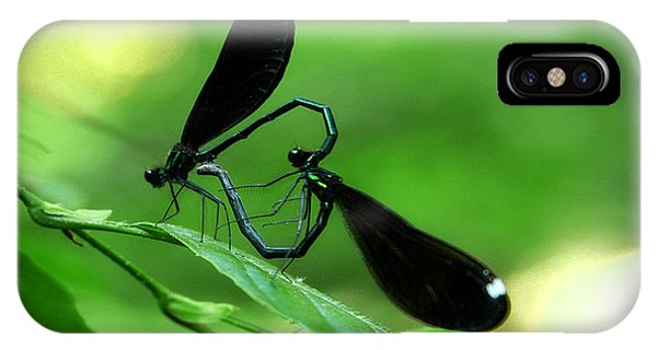 Romantic Damselflies IPhone Case