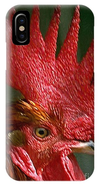 Avian iPhone Case - Rooster - Painterly by Wingsdomain Art and Photography