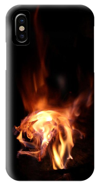 Violet Flame iPhone Case - Round Heat by Adam Long