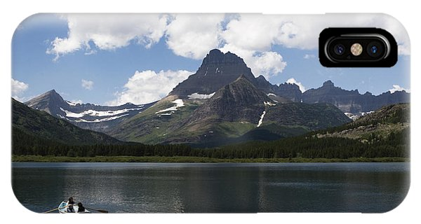 Rowboat At Many Glacier IPhone Case