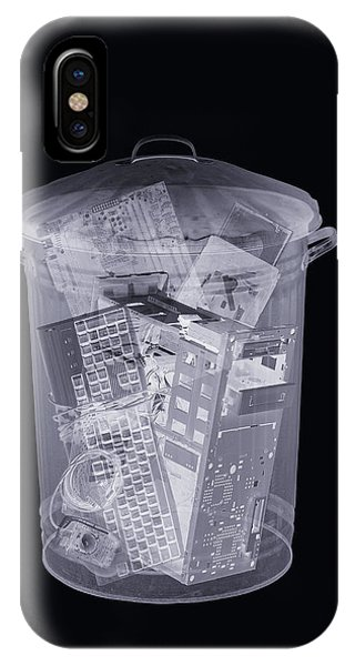 Rubbish Bin, Simulated X-ray Phone Case by Mark Sykes