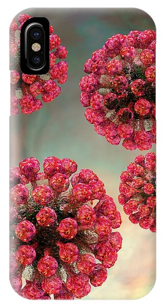 Rubella Virus Particles IPhone Case