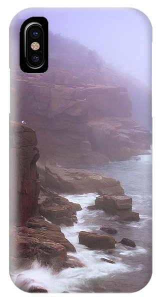 Rugged Seacoast In Mist IPhone Case