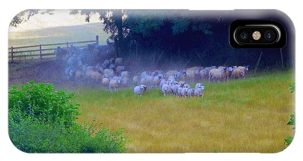 Running Of The Sheep IPhone Case