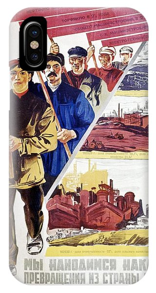 Russian Agitprop Poster Of 1930 Phone Case by Ria Novosti