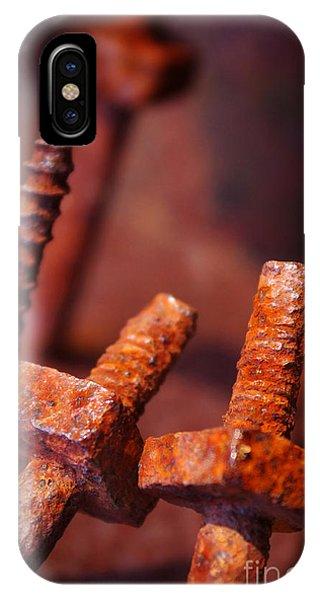 Oxide iPhone Case - Rusty Screws by Carlos Caetano