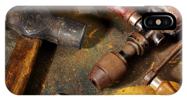 Oxidized iPhone Case - Rusty Tools by Carlos Caetano