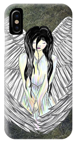 Sad Angel IPhone Case