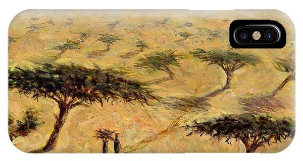 Barren iPhone Case - Sahelian Landscape by Tilly Willis