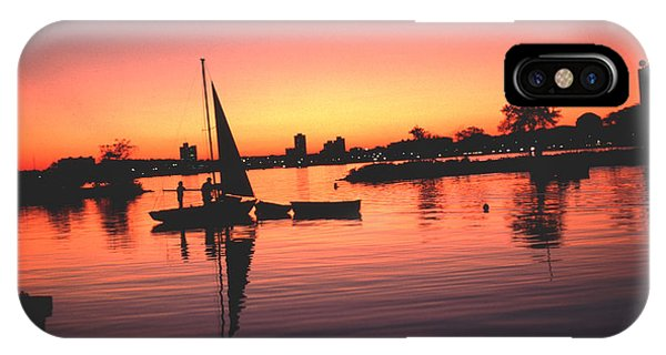 Sailing End Of The Day Backbay  Boston IPhone Case