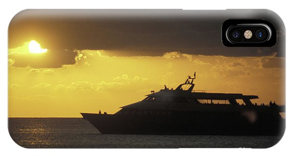 Sailing Into The Sun Cozumel Mexico Phone Case by John  Mitchell