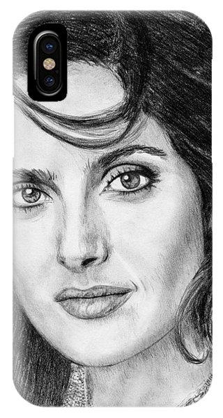 iPhone Case - Salma Hayek In 2005 by J McCombie