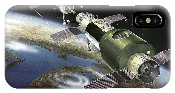 Salyut 1 Space Station, Artwork Phone Case by Ria Novosti