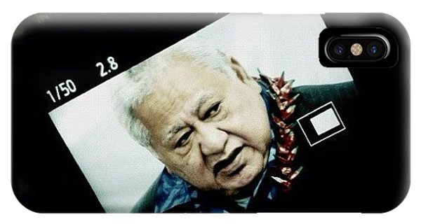 Political iPhone Case - Samoan Prime Minister #fuda #fairfax by Luke Fuda