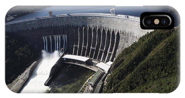 Sayano-shushenskaya Hydroelectric Dam Phone Case by Ria Novosti