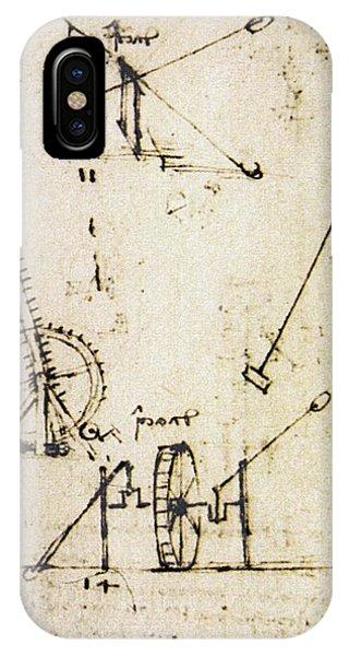 Scaling Ladder By Leonardo Da Vinci Phone Case by