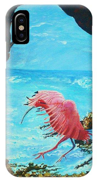 Scarlet Ibis Landing IPhone Case