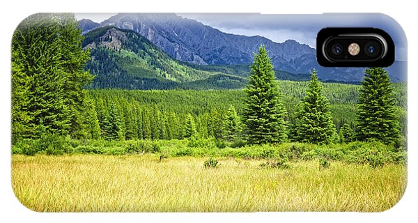 Rocky Mountain iPhone Case - Scenic View In Canadian Rockies by Elena Elisseeva
