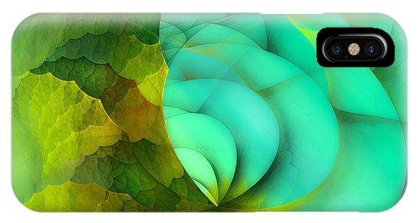 Fractal Geometry iPhone X Case - Sea Dragon by Betsy Knapp