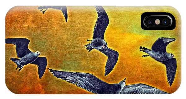 Seagulls In Flight Phone Case by Donna Pagakis