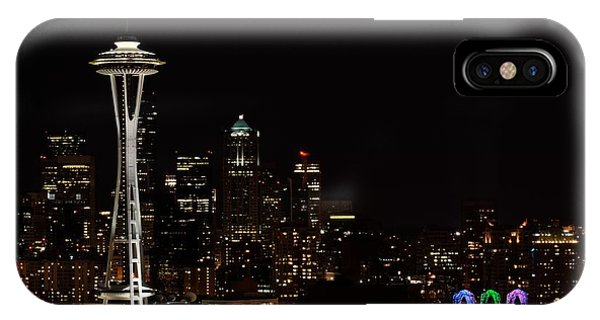 Seattle At Night Phone Case by Alan Clifford
