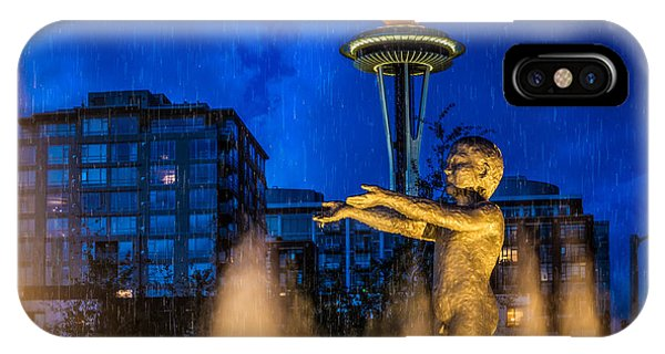 Seattle Rain Boy IPhone Case