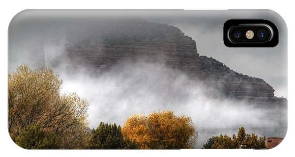 IPhone Case featuring the photograph Sedona Fog by Tam Ryan