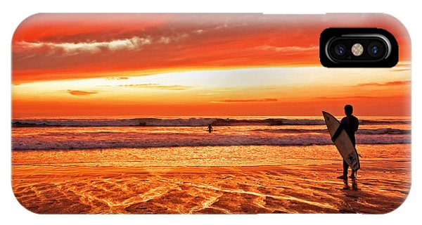 Sensational Sunset Surf Phone Case by Donna Pagakis