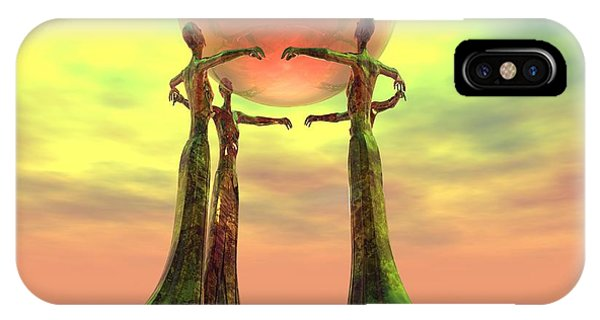 iPhone Case - Sentinels II by Sandra Bauser Digital Art