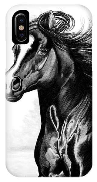 Shading Of A Horse In Bic Pen IPhone Case