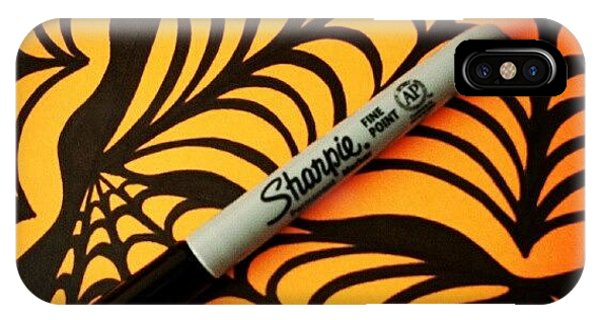 Holiday iPhone Case - @sharpie #sharpie #halloween #abstract by Mandy Shupp