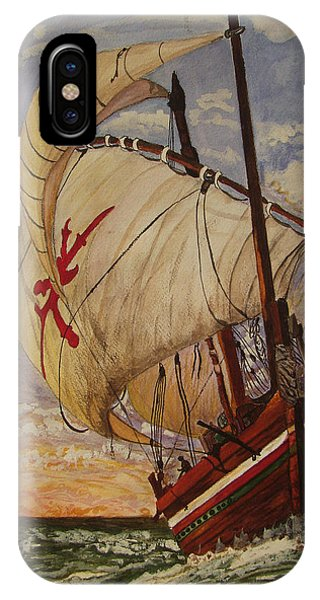 Ship On A Tossing Sea IPhone Case