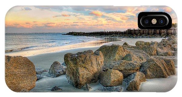 Shoreline Folly Beach Phone Case by Jenny Ellen Photography